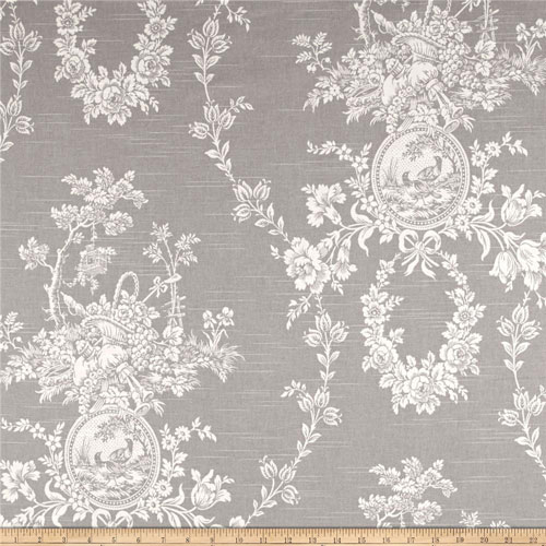 House Platinum: Waverly Country House Platinum Toile Home Decorating