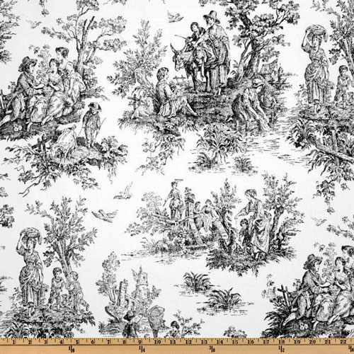 Premier Prints Colonial Black White Toile Home Decorating