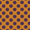 Fabric Finders Purple Gold Polka Dot
