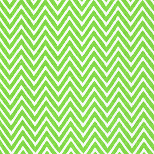 Fabric Finders Lime Green Chevron Stripe Cotton Apparel Fabric