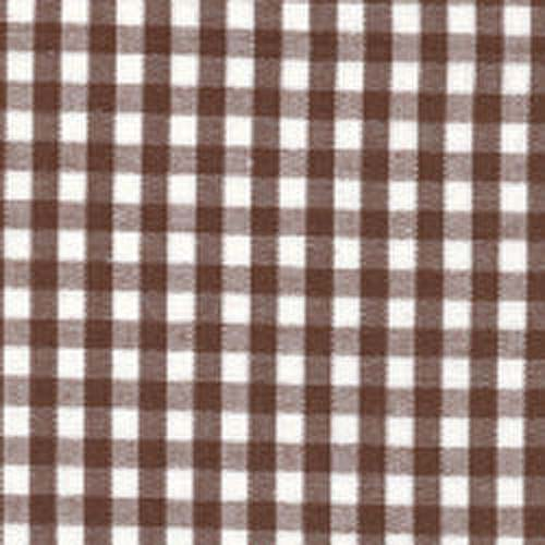 Fabric Finders Chocolate Brown White Gingham Check Fabric