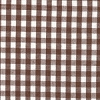 Chocolate White Gingham