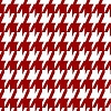 Red White Mini Houndstooth