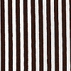 Chocolate White Stripe Pique