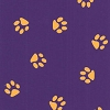 Fabric Finders Purple Gold Paw