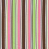 Brown Pink Green Stripe Pique