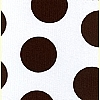 White Chocolate Brown Polka Dot