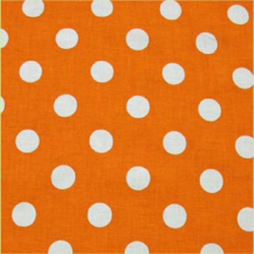 Orange White Polka Dot Quilting Apparel Fabric - Windham ...