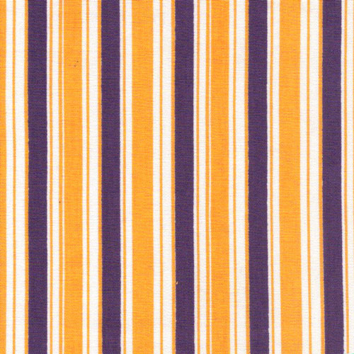 Fabric Finders Purple Gold Lsu Stripe Print Apparel Fabric