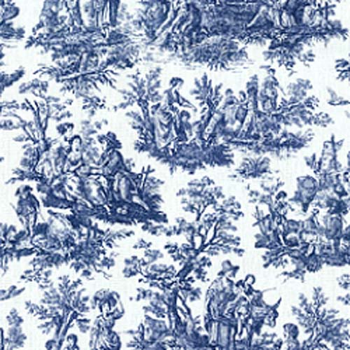 Browse by brand gt waverly fabrics gt toile gt waverly rustic toile navy