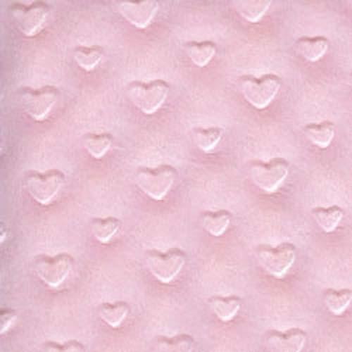 Home gt fleece minky gt embossed minky gt minky heart baby pink