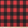 Buffalo Check Red Black Slub