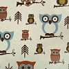Premier Prints Hooty Village Natural