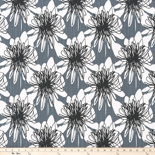 Premier Prints Unity Black Flame Ink Slub Canvas Home Decorating Fabric -  Texassusannie com