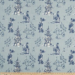 Asian Toile Regal Navy