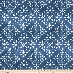 Avila Prussian Blue Slub Canvas