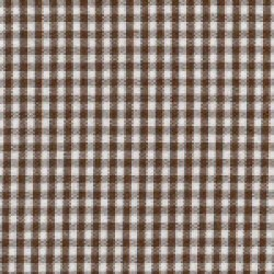 Fabric Finders Chocolate Brown White Gingham