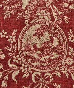 Waverly Country House Red Toile Home Decorating Fabric