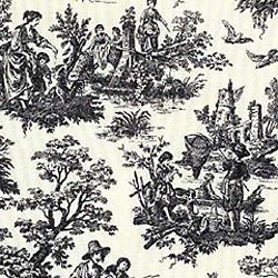 "28"" By 54"" Country Life Black Toile - FREE SHIPPING"