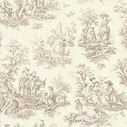 Waverly Country Life Linen Toile