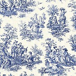 "22"" By 54"" Country Life Wedgewood Blue Toile - FREE SHIPPING"