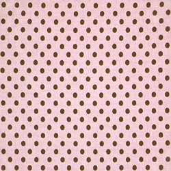 "27"" By 56"" Tiny Dots Pink Brown - FREE SHIPPING"