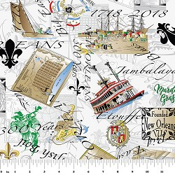 New Orleans 300th Anniversary Fabric : 2156