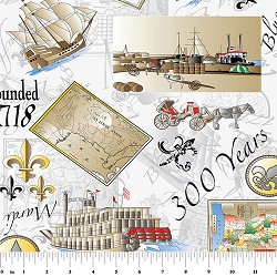 New Orleans 300th Anniversary Fabric : 2157