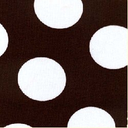 Chocolate Brown White Polka Dot