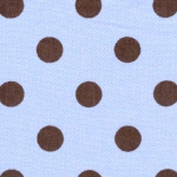 "28"" By 60"" Blue Brown Polka Dot - FREE SHIPPING"