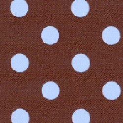 Brown Blue Polka Dot