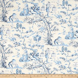 Waverly Haiku Toile Indigo