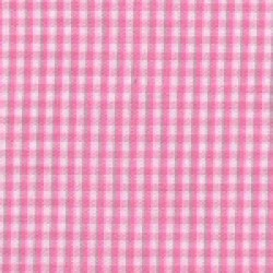Hot Pink White Gingham 1/16""