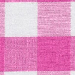 Hot Pink Gingham - BY THE BOLT