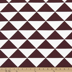 Large Dimensions Maroon