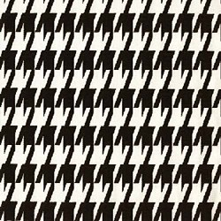 Large Houndstooth Black White