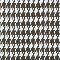 Large Houndstooth Chocolate White