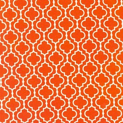 Metro Living Quatrefoil Orange