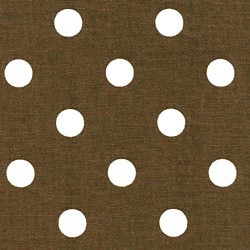 "33"" By 54"" Polka Dot Espresso White - FREE SHIPPING"
