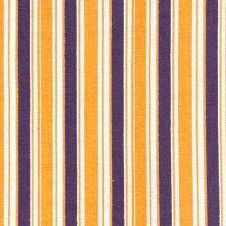 Fabric Finders Purple Gold Lsu Stripe Print Apparel Fabric