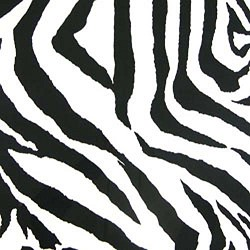 "25"" By 54"" Zebra Black White - FREE SHIPPING"