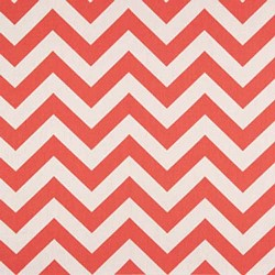 "25"" By 54"" Zig Zag Coral White Stripe Home Decorating Fabric - FREE SHIPPING"