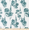 Garden Plantation Blue Slub Canvas
