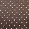 Suede Polka Dot Taupe Chocolate Brown BY THE YARD - FREE SHIPPING