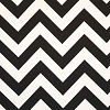 ZigZag Black White Twill