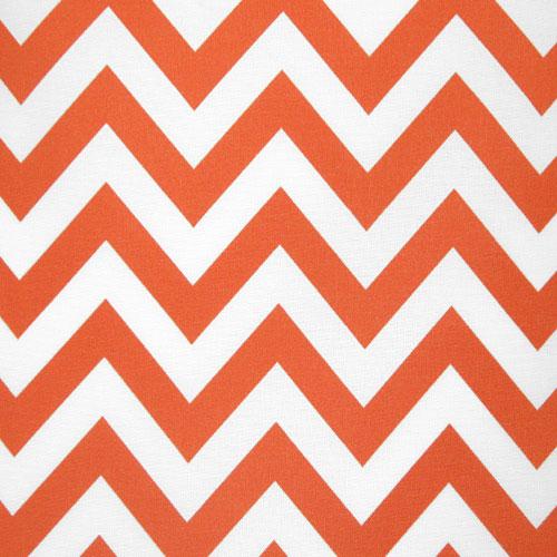 Premier Prints Zig Zag Orange Ivory Stripe Outdoor Fabric