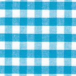 "1/4"" Turquoise Blue Gingham - BY THE BOLT"