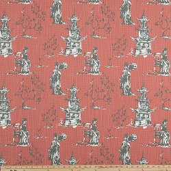 Asian Toile Scarlet