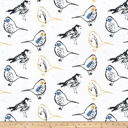 Bird Toile Brazilian Yellow