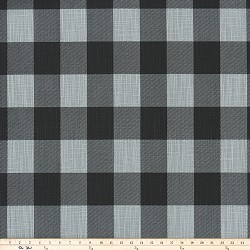 Buffalo Check Ash Black Slub